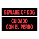 "Spanish / English Beware of Dog Sign (8"" x 12"")"
