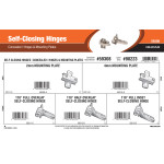 Self-Closing Hinges Assortment (Concealed Hinges & Mounting Plates)