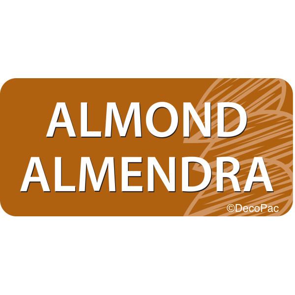 Almond/Almendra Promotional Label