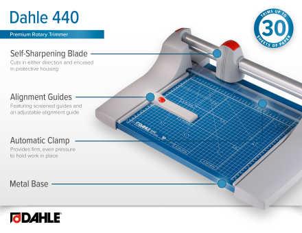 Dahle 440 Premium Rotary Trimmer InfoGraphic