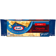 Kraft Chipotle Natural Cheese Block 8 oz Wrapper
