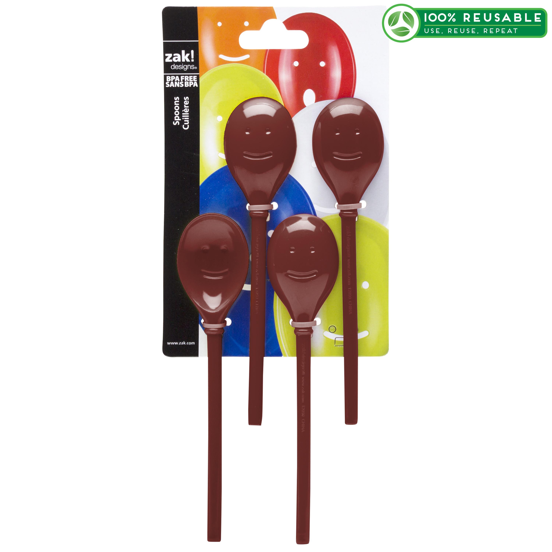 Happy Spoon Set Slotted Spoons, Brick, 4-piece set slideshow image 1