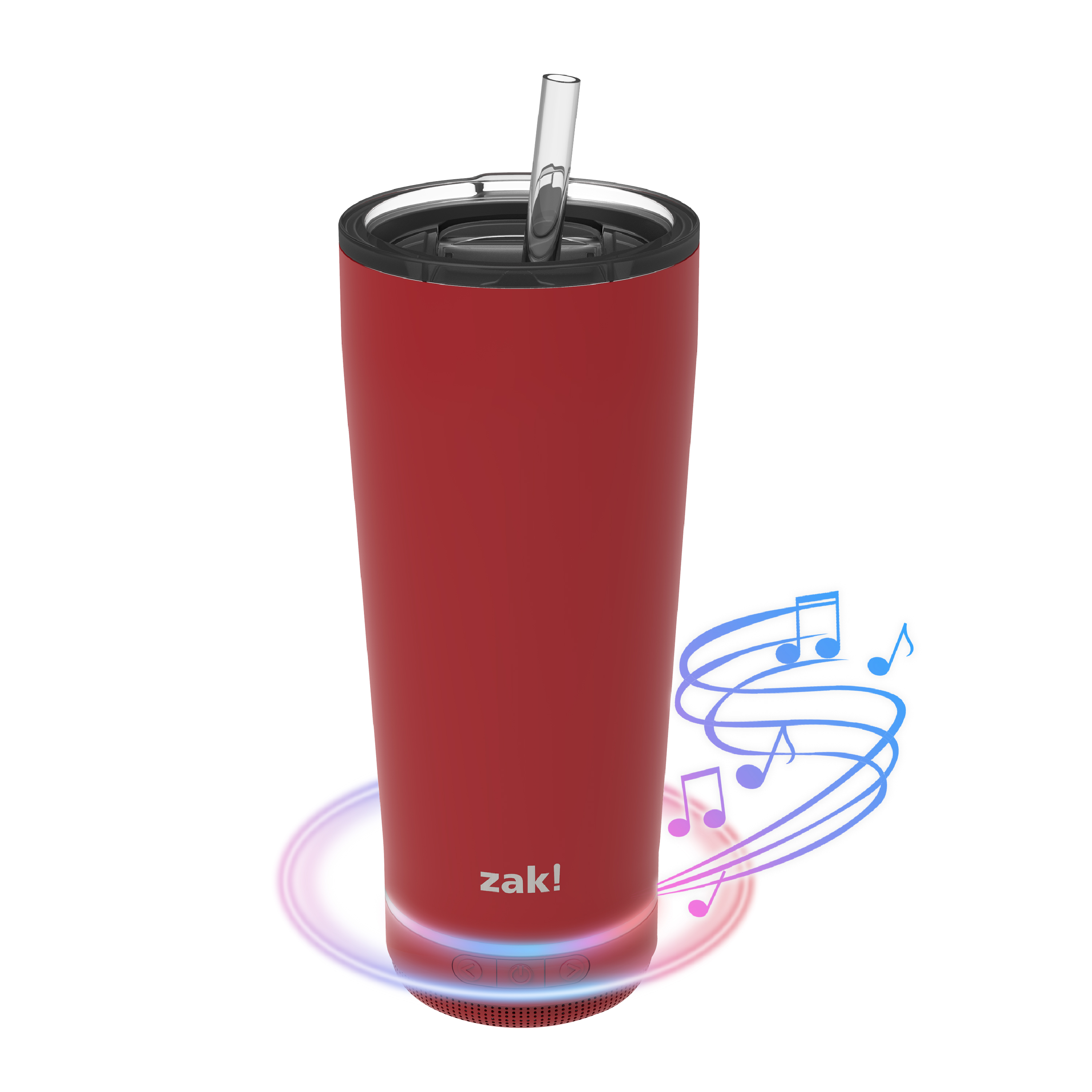 Zak Play 18 ounce Stainless Steel Tumbler with Bluetooth Speaker, Red slideshow image 13