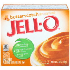 Jell-O Instant Butterscotch Pudding & Pie Filling 3.4 oz Box