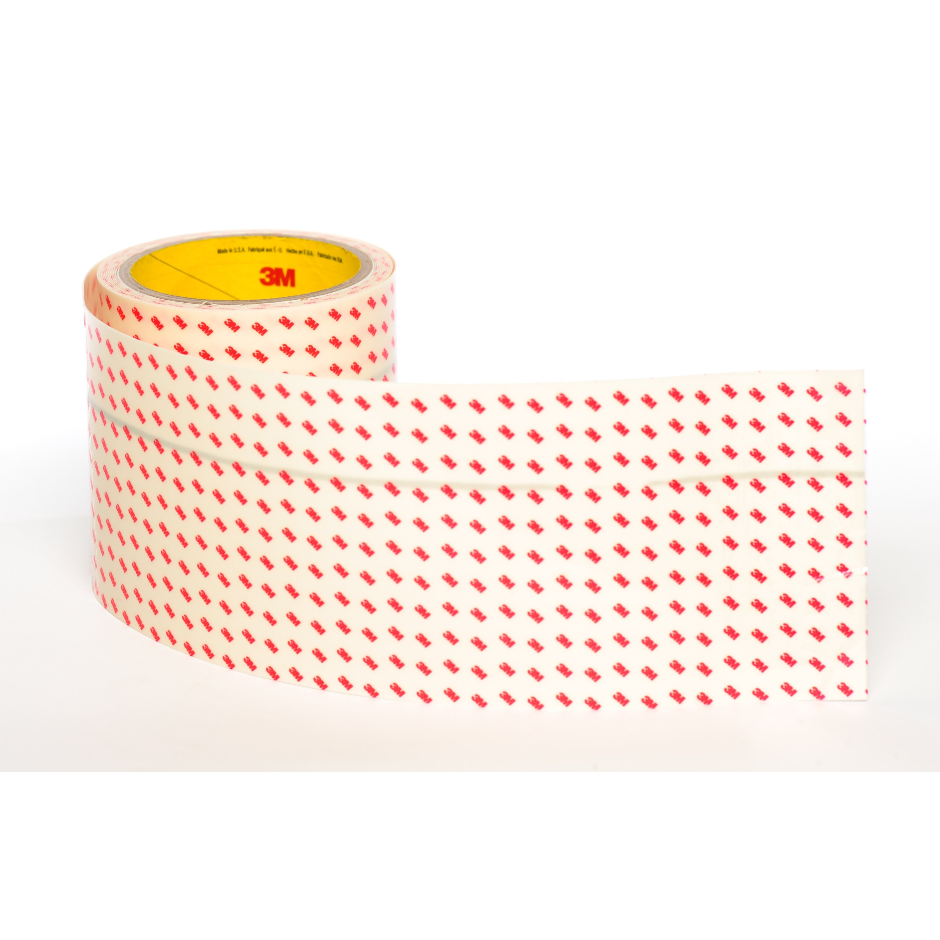 3M™ Polyurethane Protective Tape 8657DL Dual Liner, Flame Retardant, Translucent White, 4 in x 3 yd, 1 Roll/Case Sample
