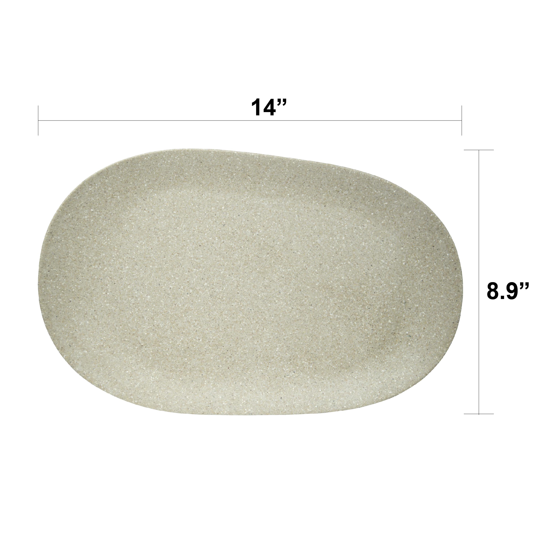Elements Serving Tray and Bowl Set, White, 4-piece set slideshow image 4