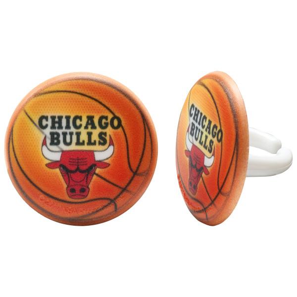 NBA Chicago Bulls Cupcake Rings