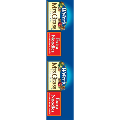 Wyler's(r) Mrs. Grass(r) Extra Noodles Soup Mix 5.2 oz. Box
