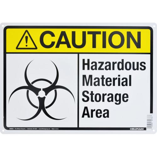 Caution Hazardous Material Storage Area Sign (10