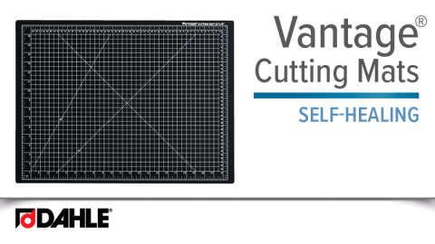 Dahle Vantage® Self-Healing Cutting Mat-Black Video