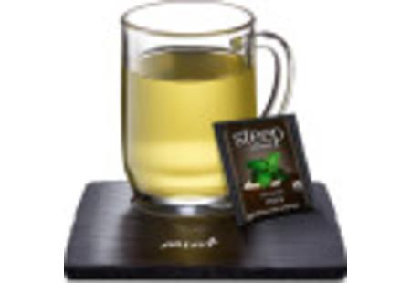 Cup of steep by bigelow organic mint herbal tea
