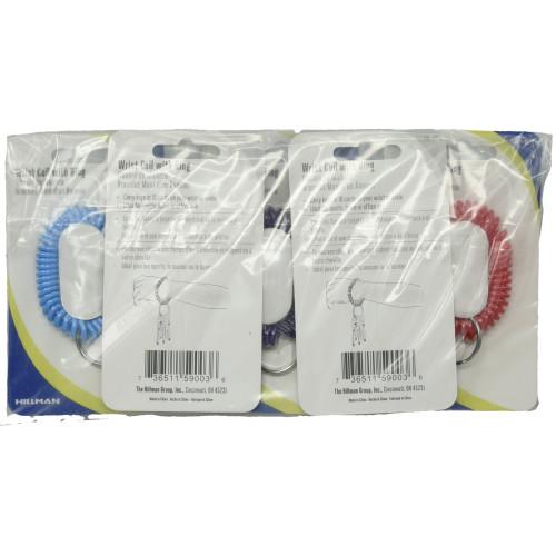 Wrist Coil Key Chain 5 Pack