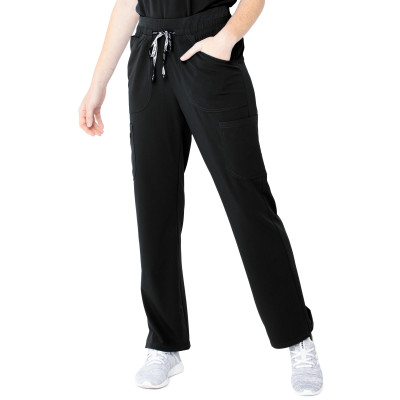 Urbane ICON 7-Pocket Scrub Pants for Women: Contemporary Slim Fit, Super Stretch, Drawstring, Ultra Soft Medical Scrubs 9635-Urbane