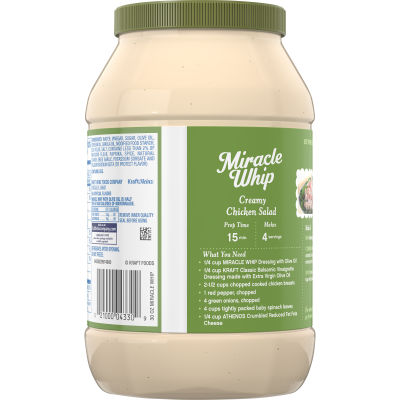 KRAFT MIRACLE WHIP Dressing with Olive Oil 30 fl oz Jar