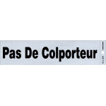 "French Adhesive No Soliciting Sign (2"" x 8"")"