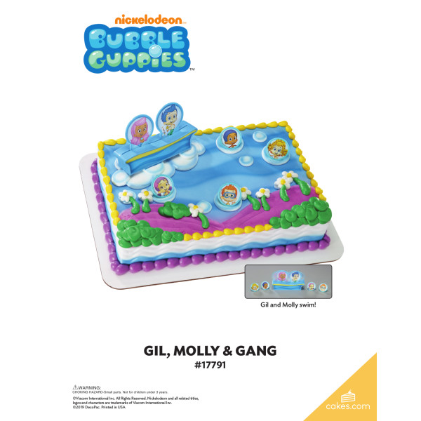 Bubble Guppies™ Gil, Molly and Gang DecoSet® The Magic of Cakes® Page