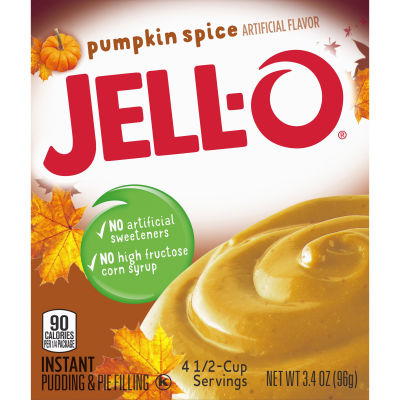 Jell-O Instant Pumpkin Pudding & Pie Filling 3.4 oz Box