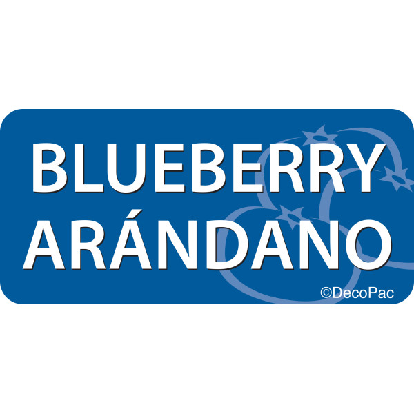 Blueberry/Arándano Promotional Label