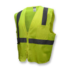 Radians SV2Z Economy Type R Class 2 Solid Safety Vest with Zipper