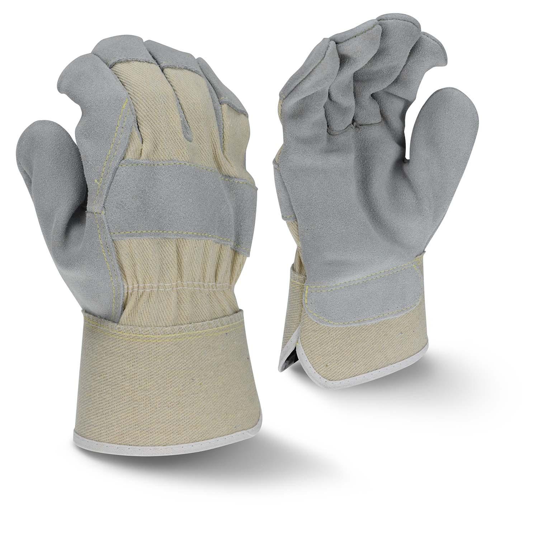 Radians RWG3400W Side Split Gray Cowhide Leather Glove