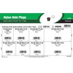 "Black & Natural Nylon Hole Plugs Assortment (Fits 5/8"" thru 1"" Holes)"