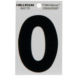 Wide Square Cut Self Adhesive Numbers