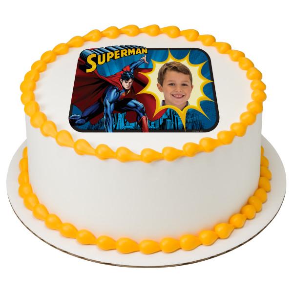 Superman™ Saves the Day PhotoCake® Edible Image® Frame