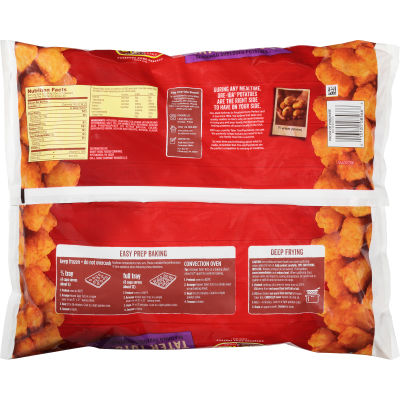 Ore-Ida Seasoned Shredded Potatoes Tater Tots 8 Lb Bag