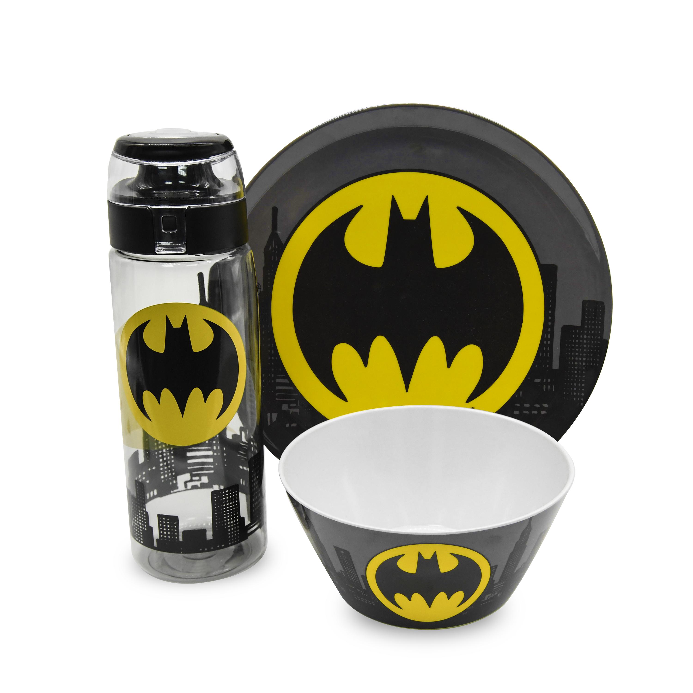 DC Comics Dinnerware Set, Batman, 3-piece set slideshow image 1