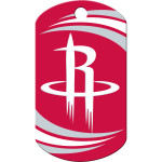 Houston Rockets Chrome Large Military ID Quick-Tag