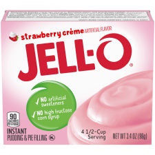 Jell-O Strawberry Creme Instant Pudding 3.4 oz Box