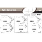 "Nylon Corner Keys Assortment (1/5"" Width)"
