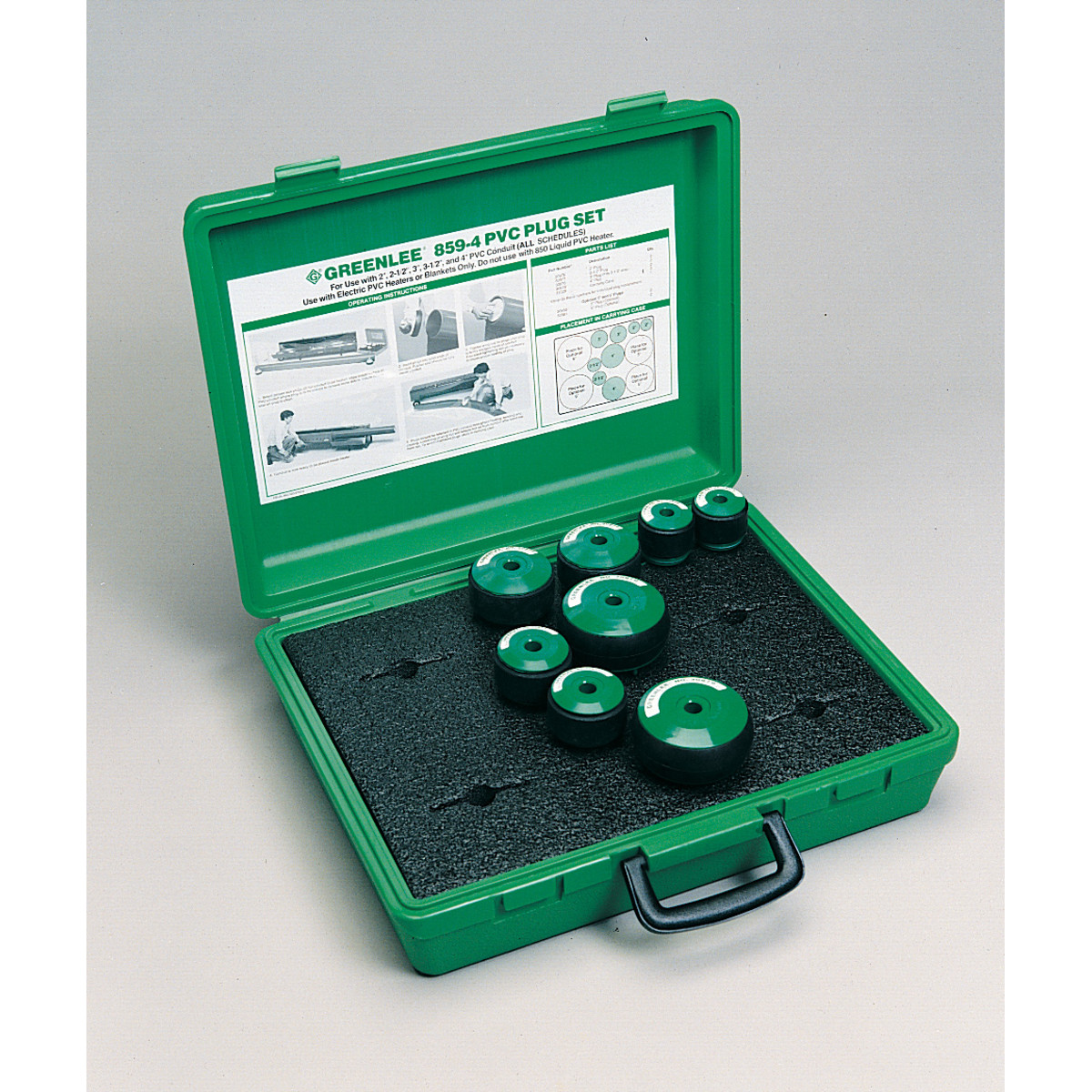 "Greenlee 859-4 PLUG SET-2""-4"" PVC (859-4)"