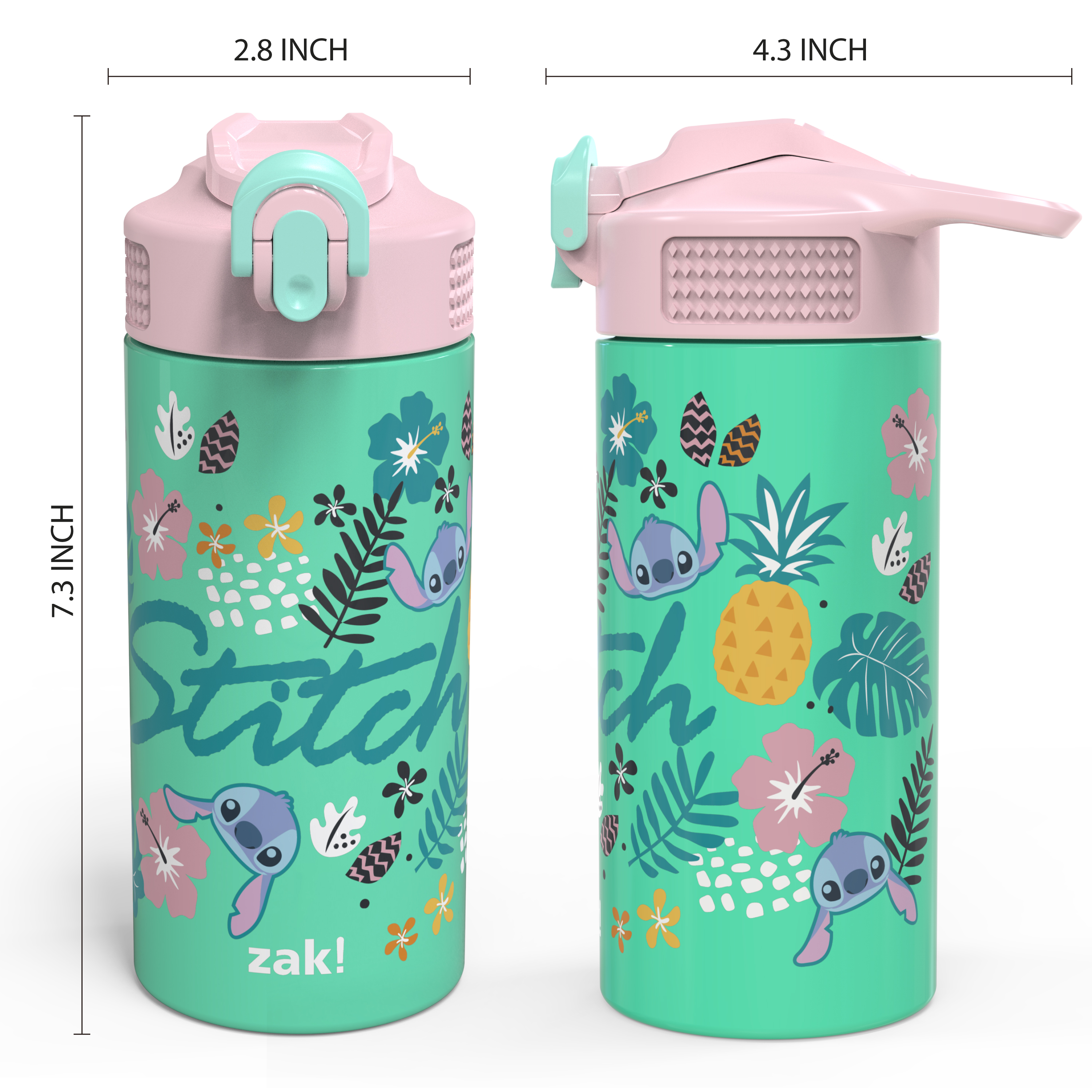 Disney 14 ounce Stainless Steel Vacuum Insulated Water Bottle, Lilo and Stitch slideshow image 7