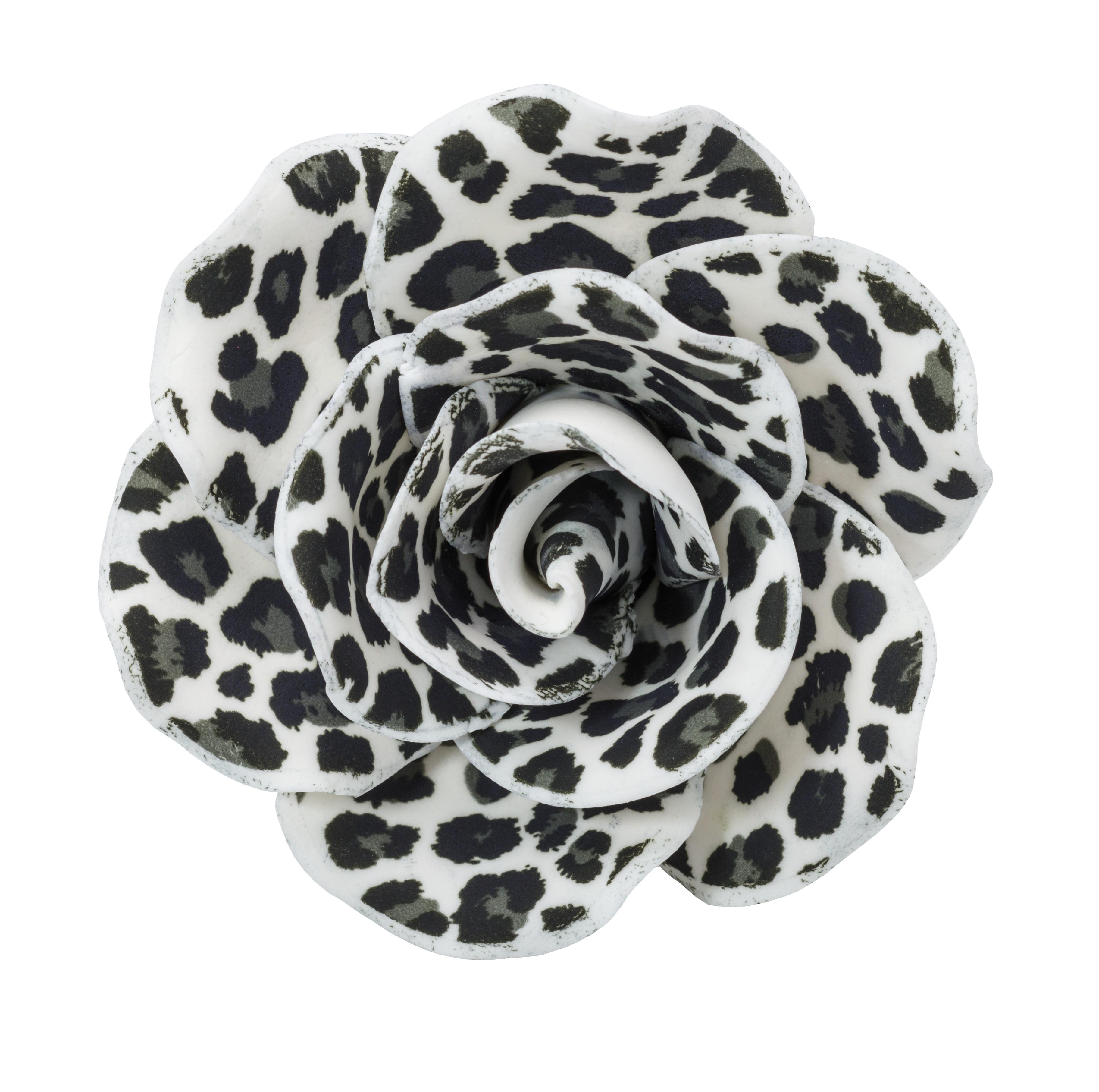 Animal Print Printed Rose Assortment Gum Paste Flowers