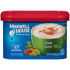 Maxwell House International Chai Latte Coffee Beverage Mix, 9 oz Canister