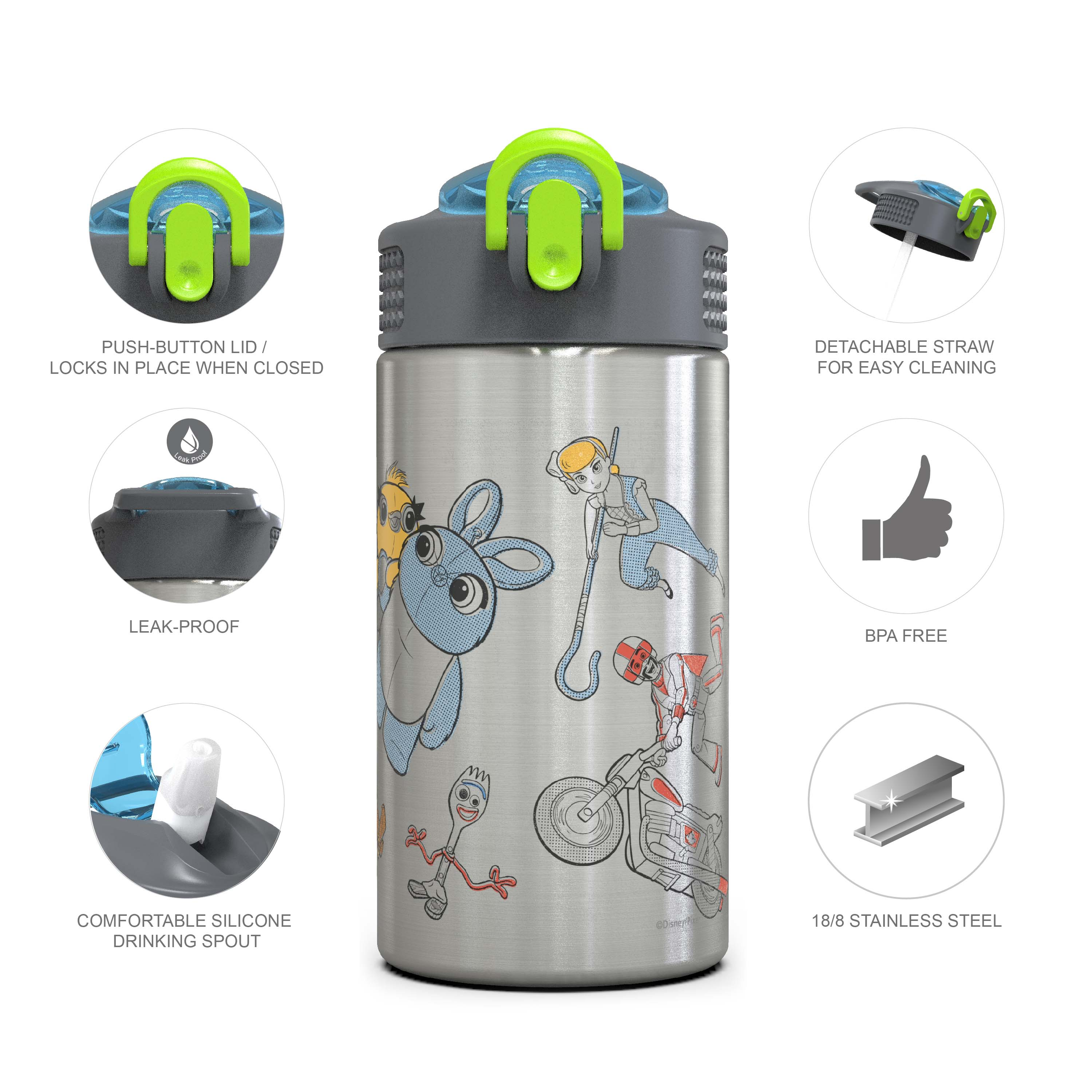 Toy Story 4 Movie 15.5 ounce Water Bottle, Buzz, Woody & Friends slideshow image 2