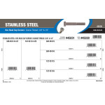 "Stainless Steel Hex Cap Screws Assortment (3/8"" & 1/2"" Coarse Thread)"