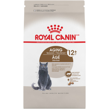 Royal Canin Feline Health Nutrition Aging Spayed / Neutered 12+ Dry Adult Cat Food