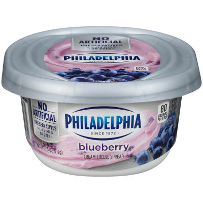 Philadelphia Blueberry Cream Cheese Spread 7.5 oz Tub