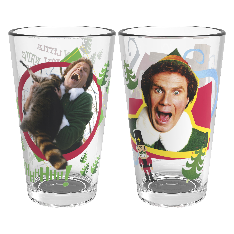 Christmas Glassware 16 ounce Pint Glasses, Elf, 2-piece set slideshow image 2