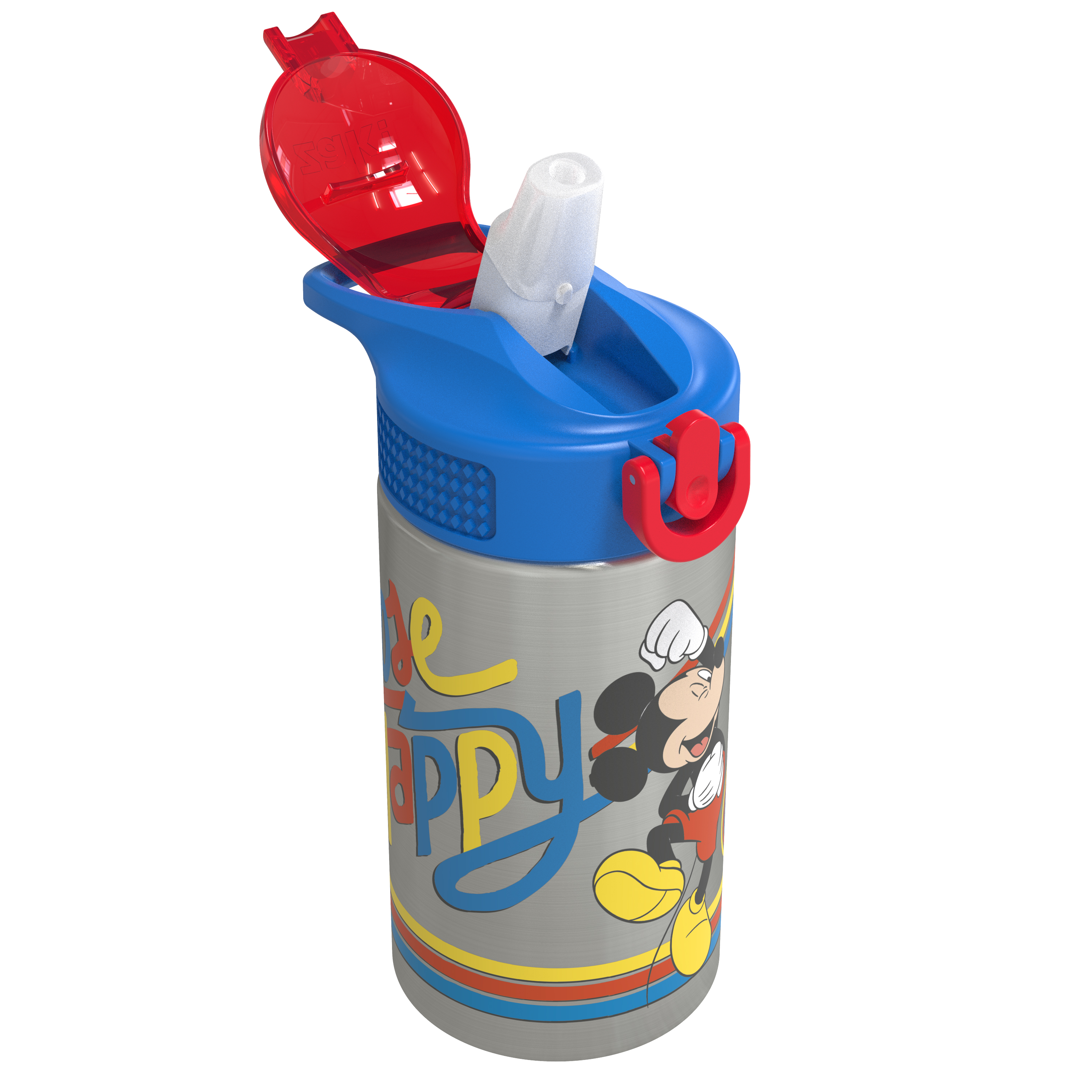 Disney 15.5 ounce Stainless Steel Water Bottle with Built-in Carrying Loop, Mickey Mouse slideshow image 2