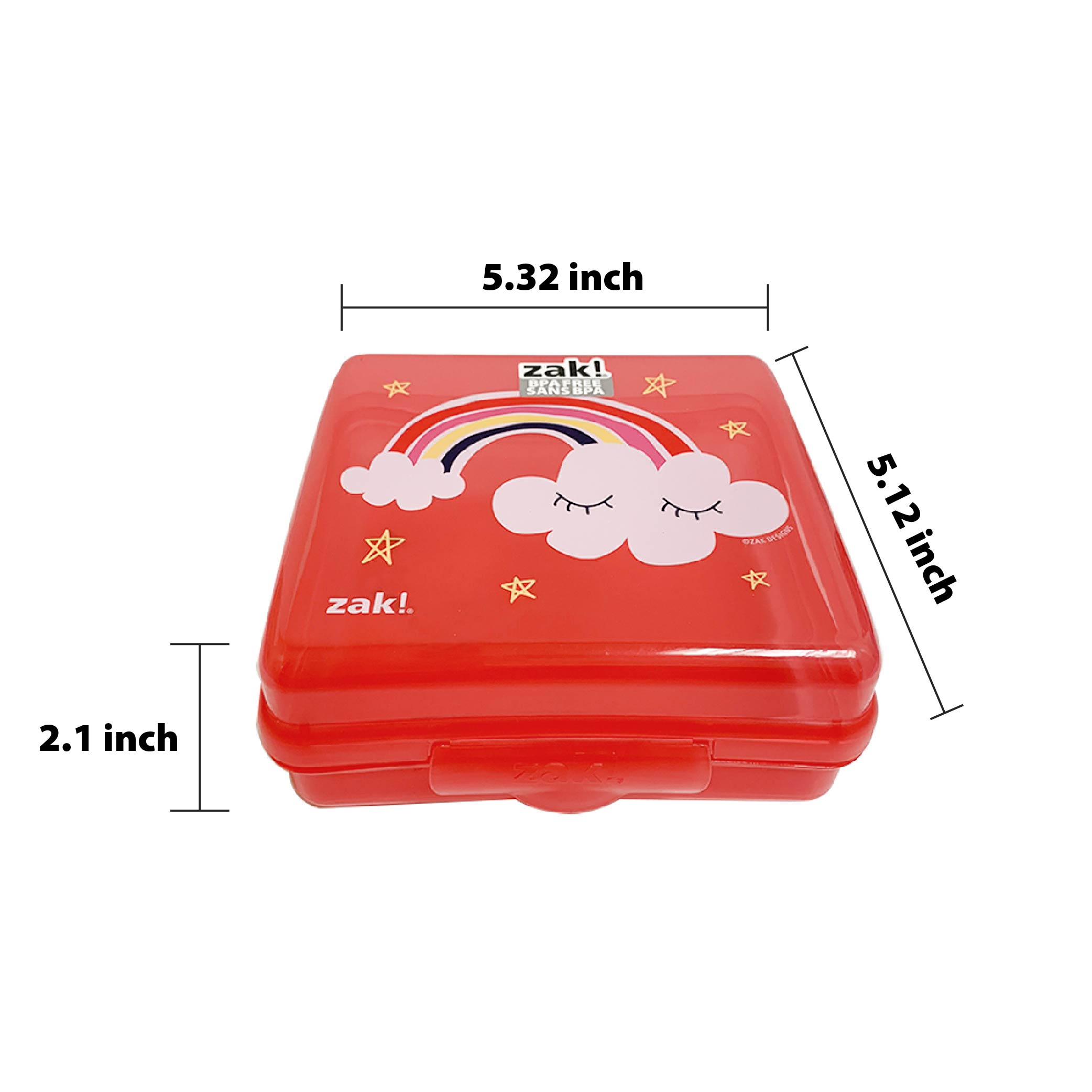 Happy Things Reusable Hinged Food Container, Clouds slideshow image 3