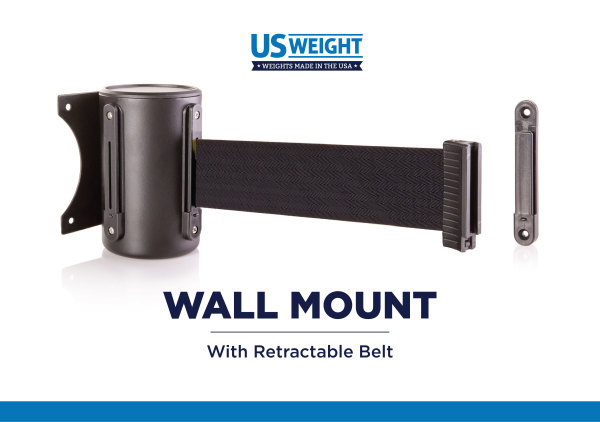 Wall Mount - Black with 8' CAU belt 2