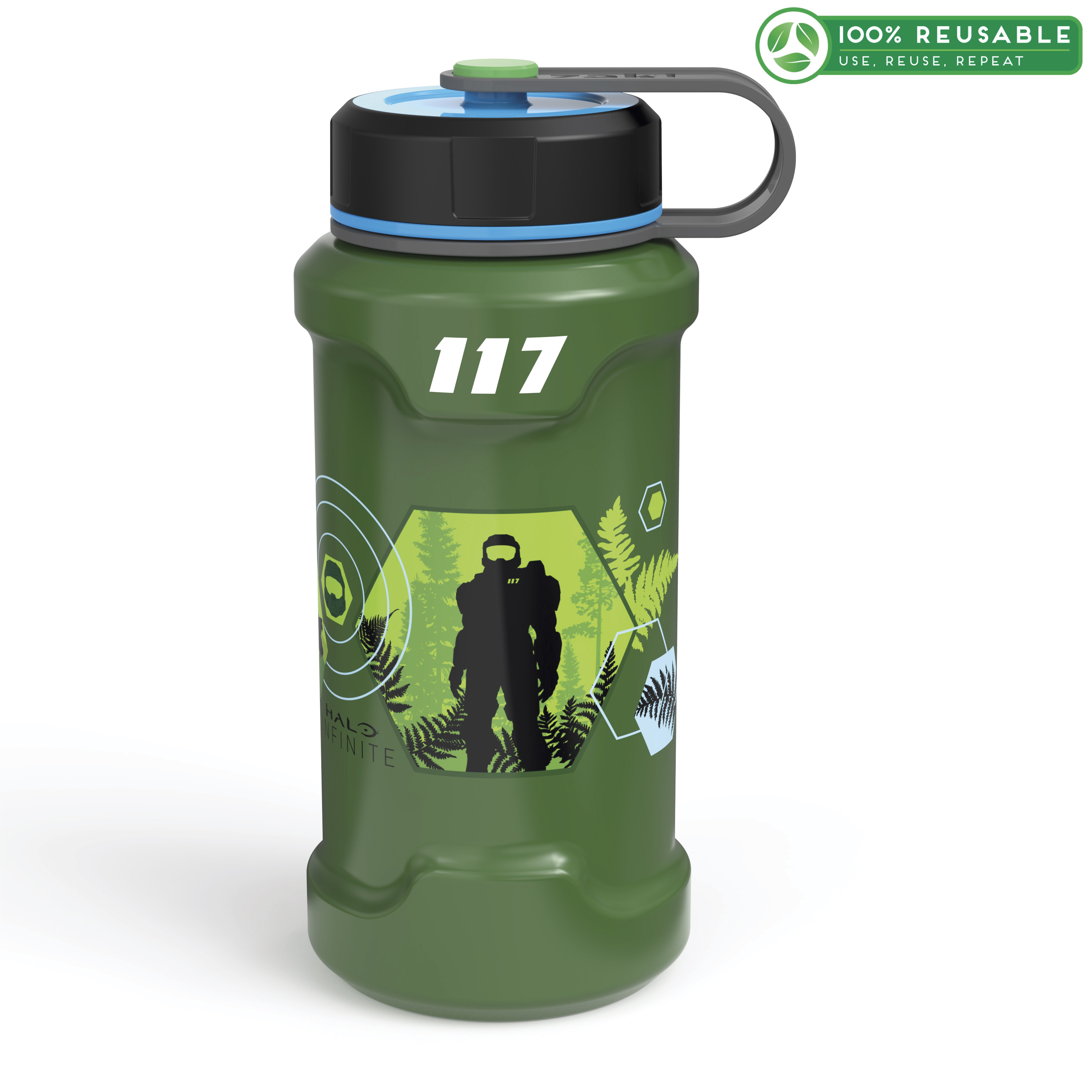 XBOX 24 ounce Stainless Steel Insulated Water Bottle, Halo slideshow image 1