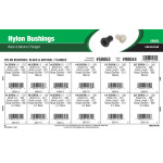 Black & Natural Flanged Nylon Bushings Assortment