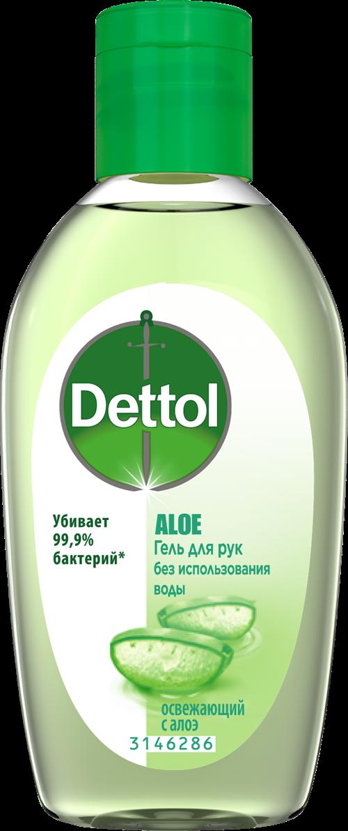 Антибактериальный увлажняющий гель для рук с Aloe Dettol