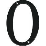 "Distinctions 4"" Flush Mount Black House Number"