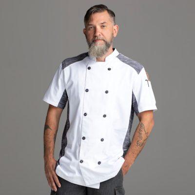 Mens Quick Cool Short Sleeve Chef Coat Jacket-Chefwear