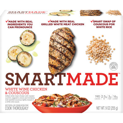Smart Made Smart Ones White Wine Chicken and Couscous 9 oz Box